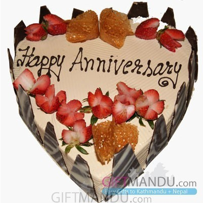 Anniversary Mocha Heart Cake from Radisson Hotel
