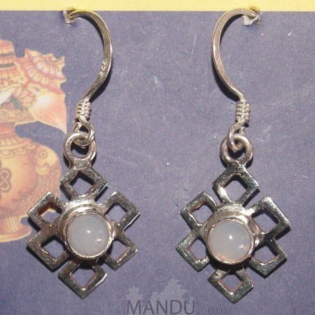 Silver Earring - Moon Stone (SLH-2565025)