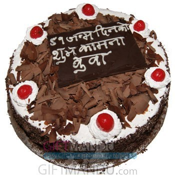 Five Star Black Forest Cake for Special Day