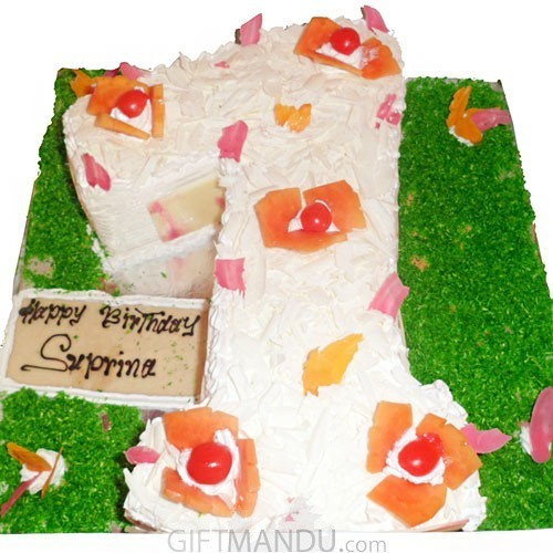 Birthday Special Number Cake (Choose Number)