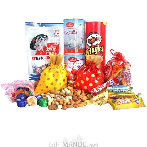 Nuts, Chocolates, Snacks & Sweets Pack