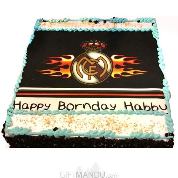 Football cake (Print Any Photo on Cake) for Kathmandu Valley