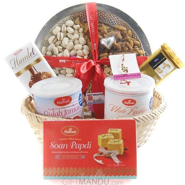 Sweetness Basket for Raksha Bandhan
