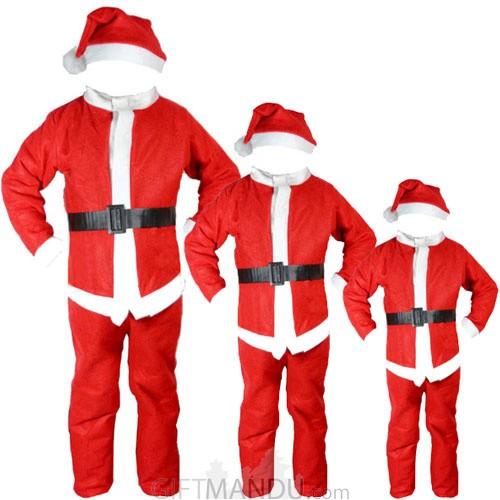 Christmas Santa Dress For Kids (0-13 Years)