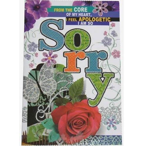 Sorry From My Heart Greeting Card