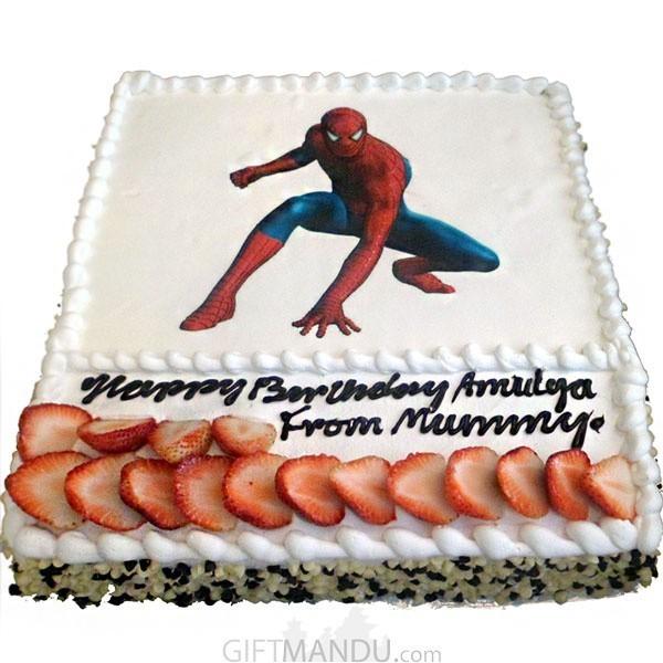 Spiderman Birthday Cake Online Delivery Gifts To Nepal Giftmandu