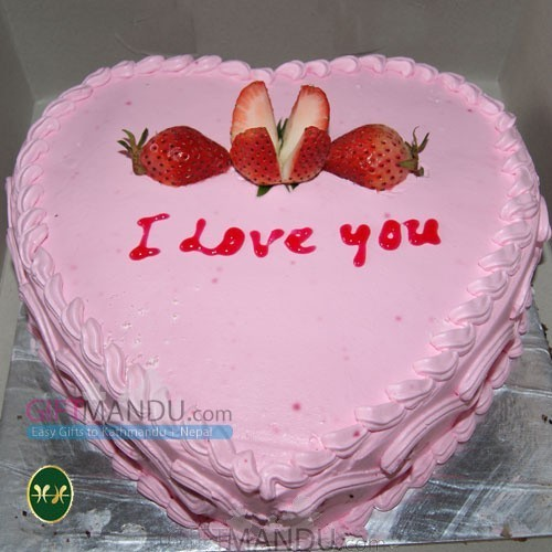 Love Heart Strawberry Cake from Annapurna Hotel