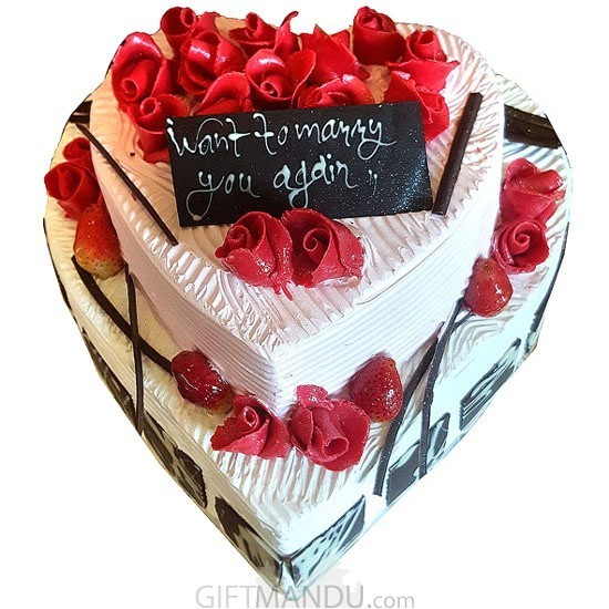 Heart Shaped Two Layer Cake