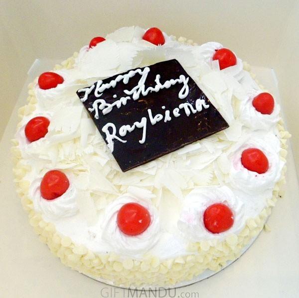 White Forest Round Cake from Hotel Annapurna
