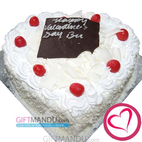 White Forest Love Heart Cake from Hotel Annapurna