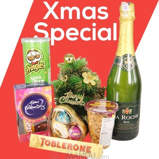 Sparkling Wine with Snacks And Chocolates