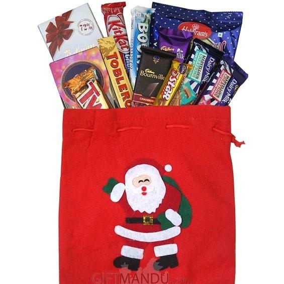 Xmas Chocolates and Snacks Bag