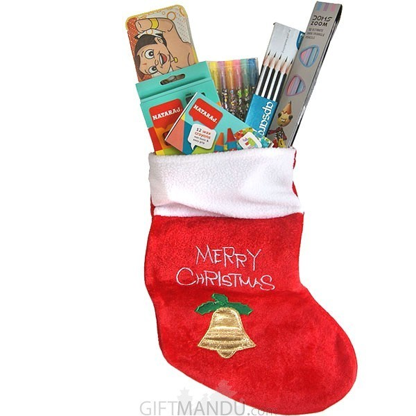 Stuffed Christmas Stocking Gift for Kids (6 Items)