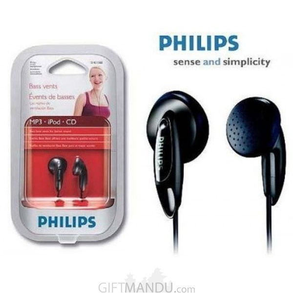 Philips In-Ear Headphone- Black SHE1360/97Philips In-Ear Headphone- Black SHE1360/97