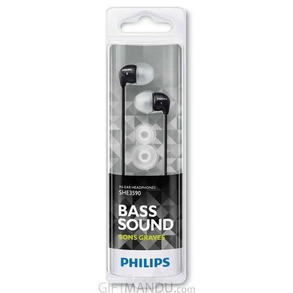 Philips In-Ear Headphone- Black SHE3590BK/10