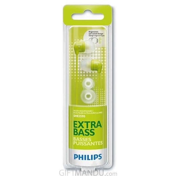 Philips In-Ear Headphone- Green SHE3590GN/10