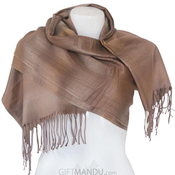 Women Soft Luxurious Scarf Wrap shawl - Light Brown