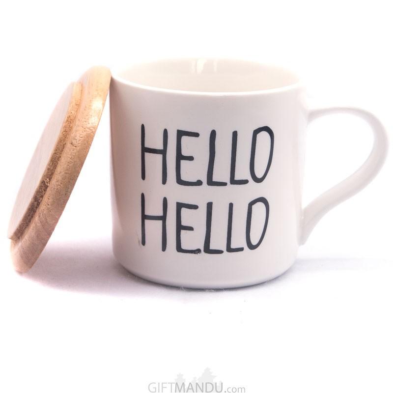 Hello Printed Ceramic Coffee/Tea Mug
