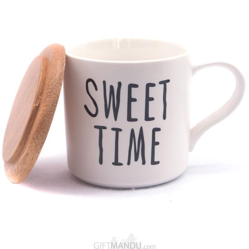 Sweet Time Printed Ceramic Coffee/Tea Mug