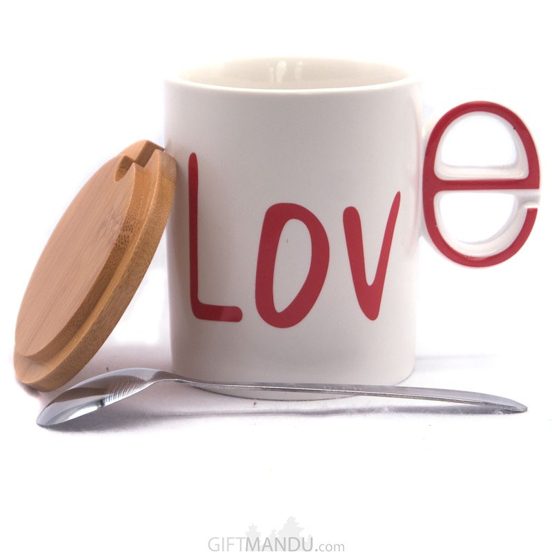 Stylish Love Printed Ceramic Coffee/Tea Mug