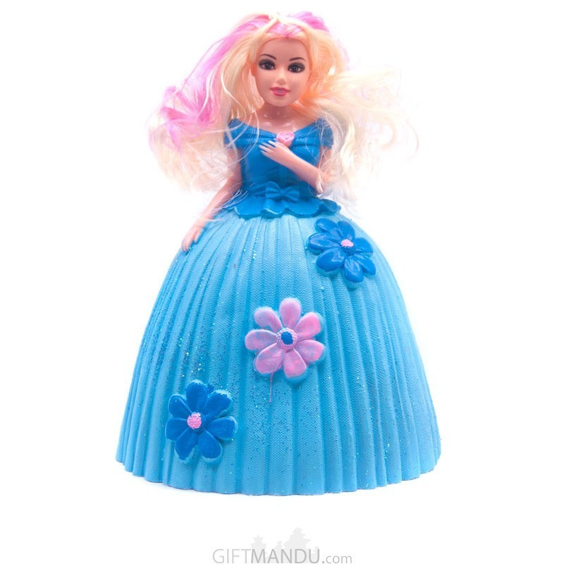 Beautiful Princess Blue Doll Piggy Bank