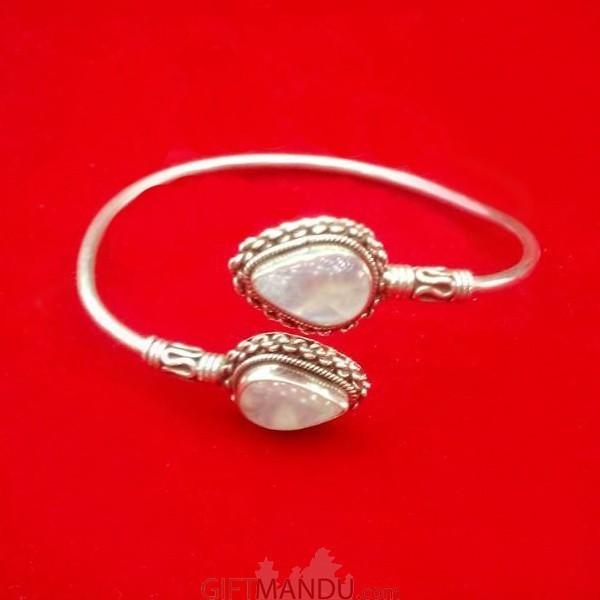 Silver Bracelet (Moon Stone)