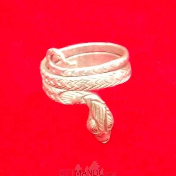 Silver Snake Designed Ring