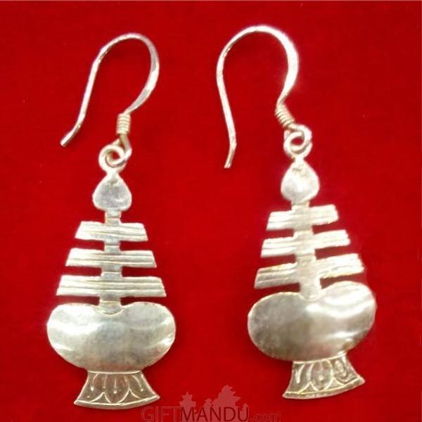 Silver Earring - Newari Drop Earring