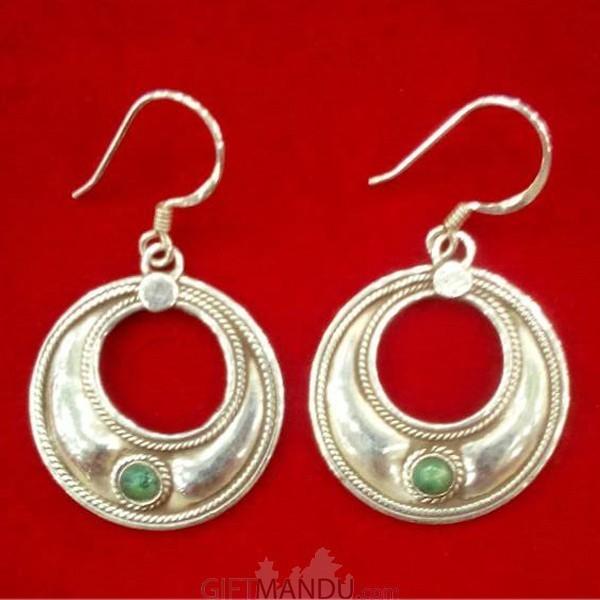 Silver Earring - Trade Moon Eclipse Filigree Earrings