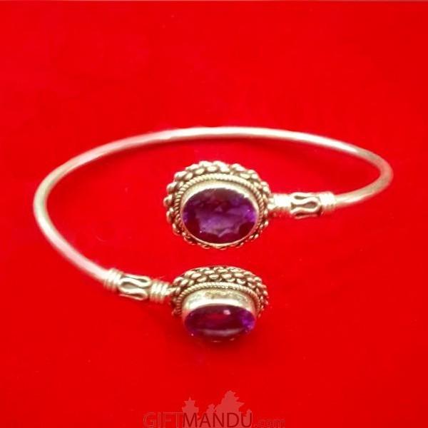 Silver Bracelet (Purple Amethyst)