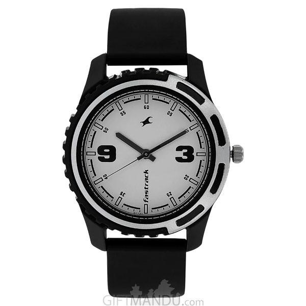 Fastrack White Dial Analog Men's Watch - 3114PP01