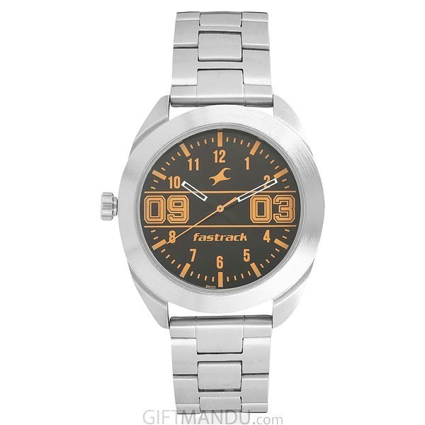 Fastrack Grey Dial Analog Watch For Men - 9298PV10Fastrack Black Dial Silver Analog Watch For Men - 3175SM02