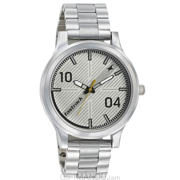 Fastrack White Dial Analog Watch For Gents - 38051SM01