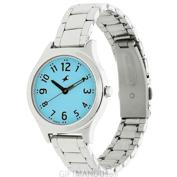 Fastrack Blue Dial Analog Watch For Ladies - 6152SM03