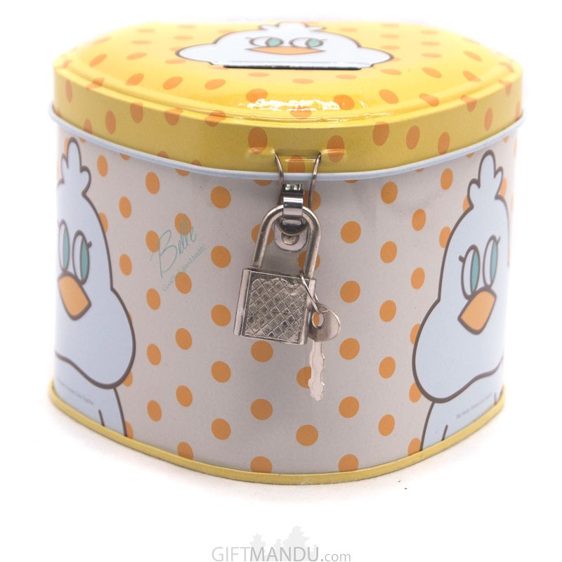 Coco Cartoon Printed Money Box For Kids - (Yellow)