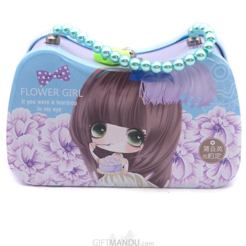 Handbag Design Piggy Bank For Kids - (Blue & Purple)