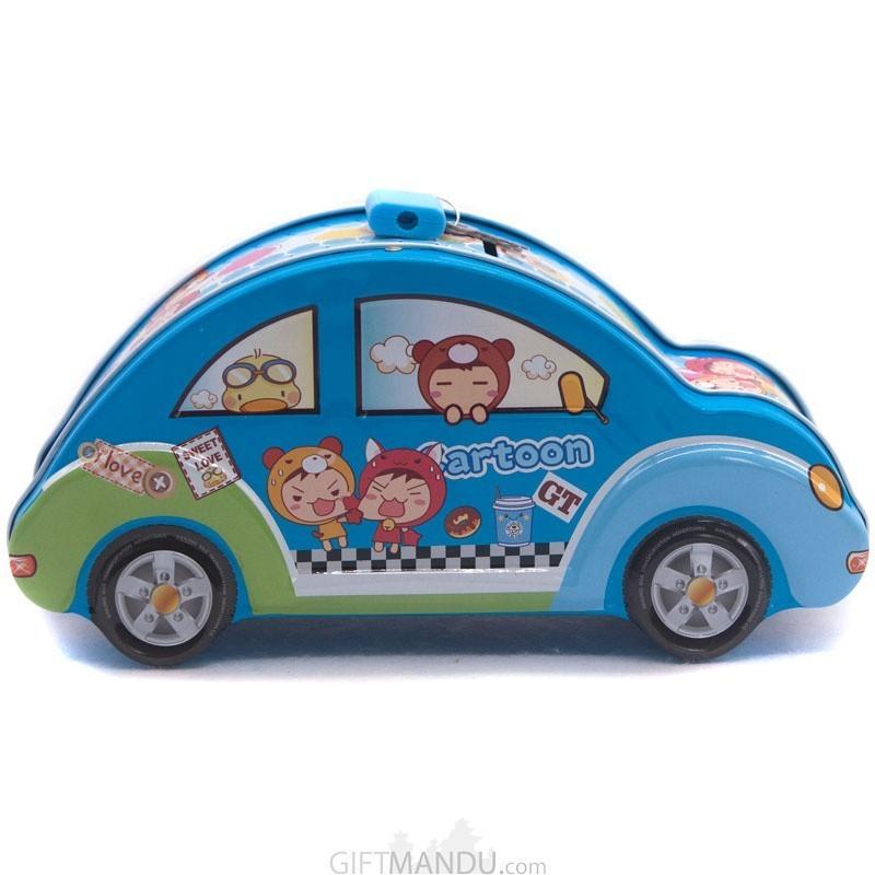 Car Design Piggy Bank For Boys (Blue)