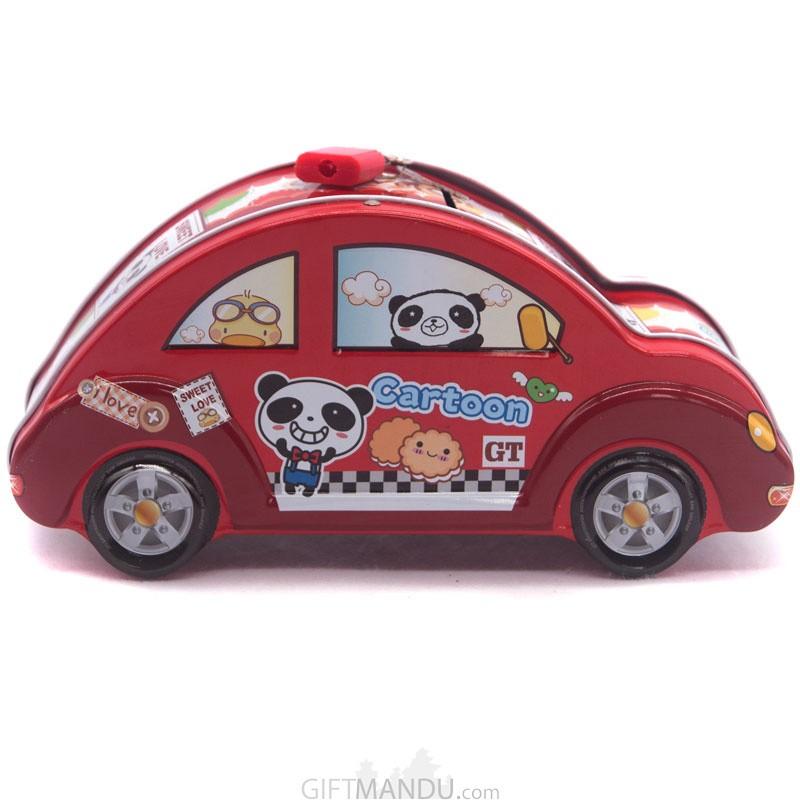 Car Design Piggy Bank For Kids (Red)