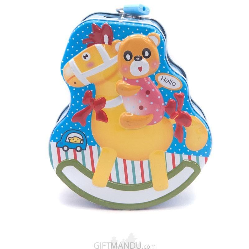 Playful Pooh Design Piggy Bank For Kids - (Multicolor)