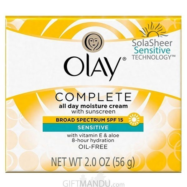 Olay Complete Cream All Day Moisturizer with Sunscreen Broad Spectrum SPF 15