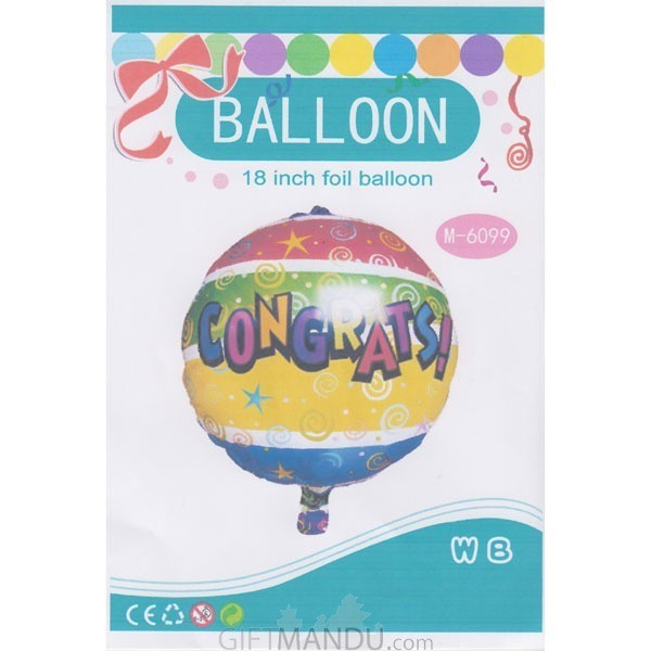 "18"" Congrats Foil Balloon (Air or Helium)"