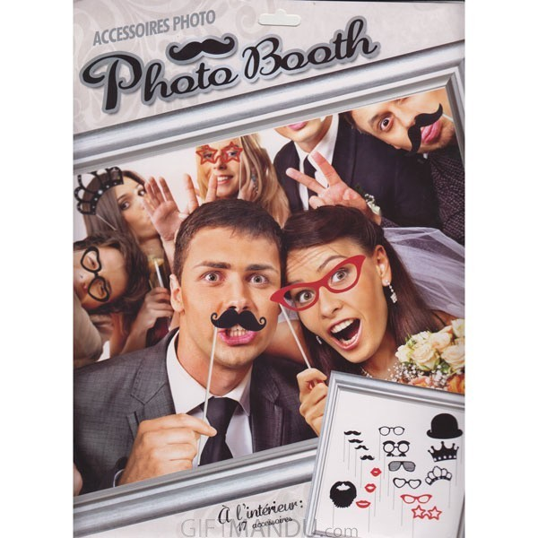 Photo Booth Props For Party (17 Accessories)