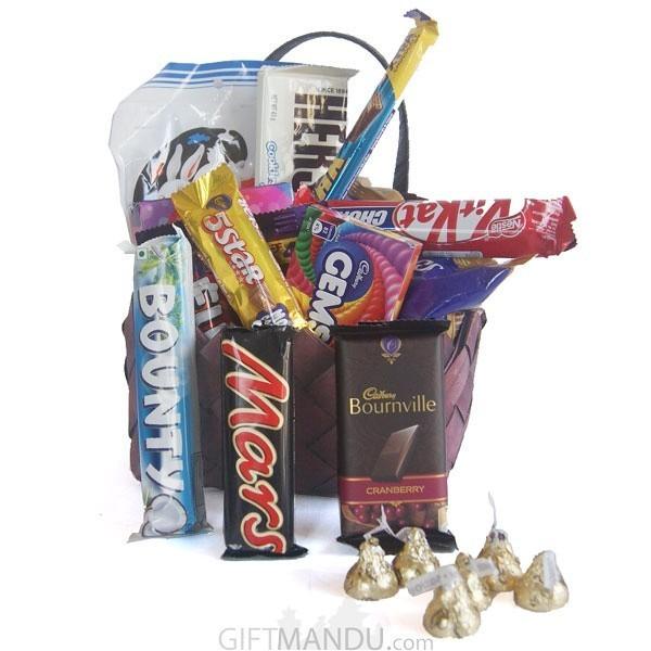 Valentine Chocolates Gift Basket Online Shop Gifts To Nepal