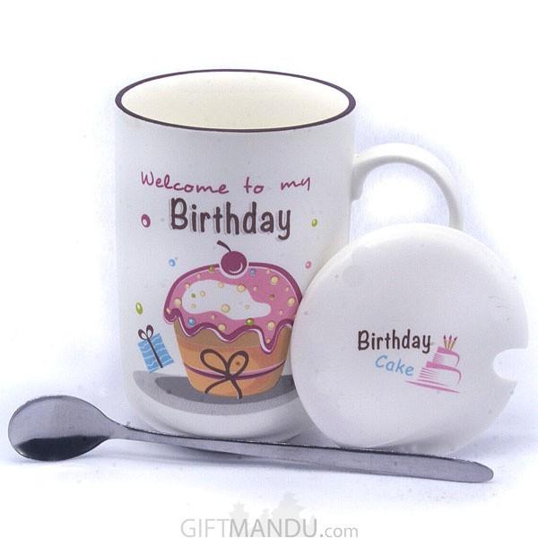 Birthday Ceramic Coffee Mug (Cherry)
