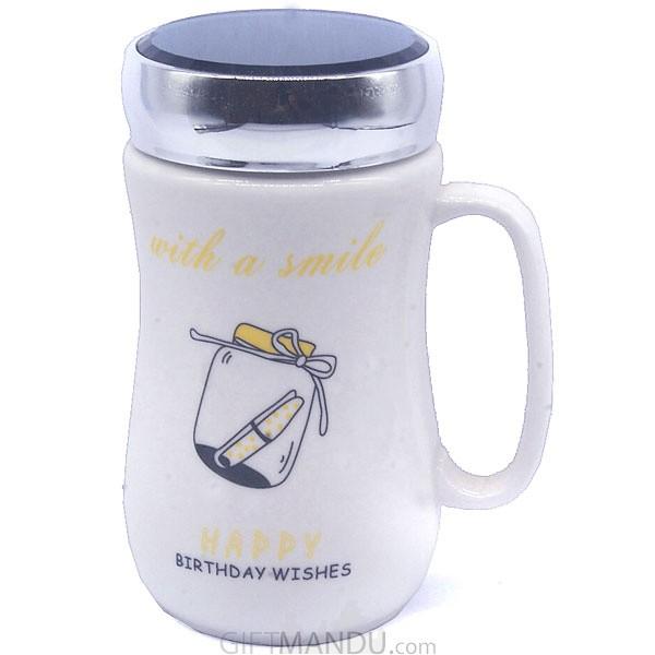 Birthday Ceramic Coffee Mug (Message in Jar)