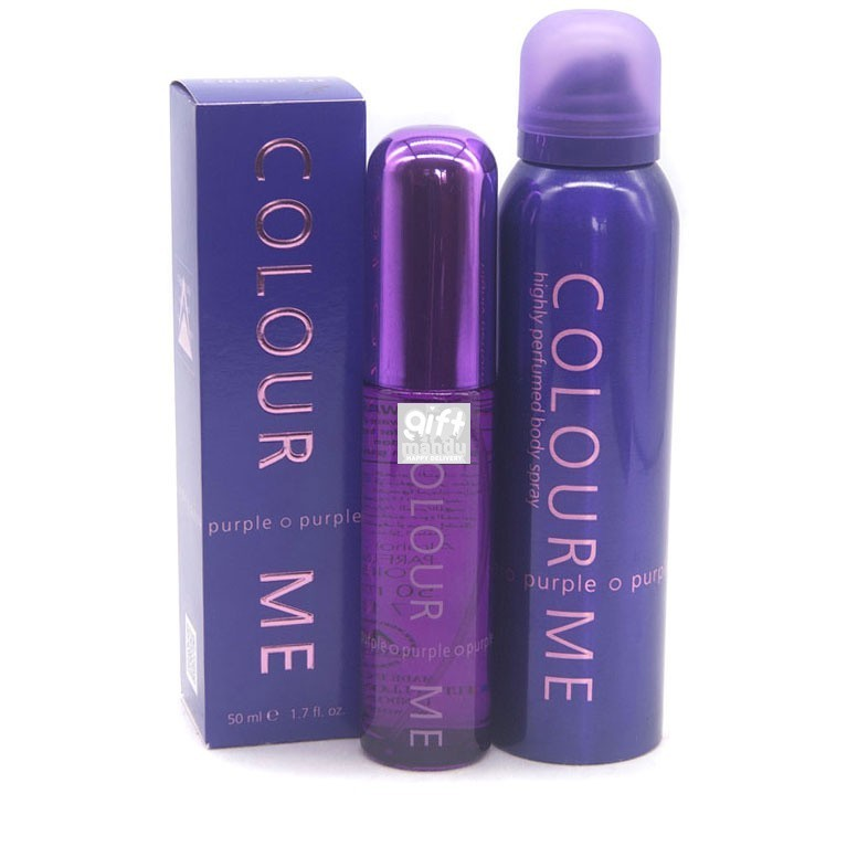 Show Her Affection With Colour Me Purple Fragrances Gift Set