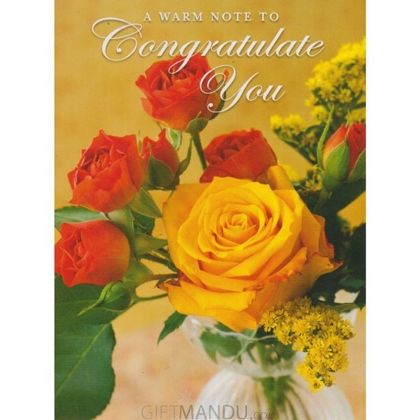A Warm Note To Congratulate You - Greeting Card