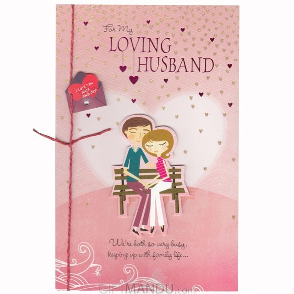 For my loving husband greeting card send gifts to nepal gifts for my loving husband greeting card m4hsunfo
