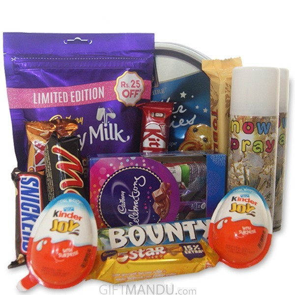 Chocolates Packages with Snow Spray - (13 items)
