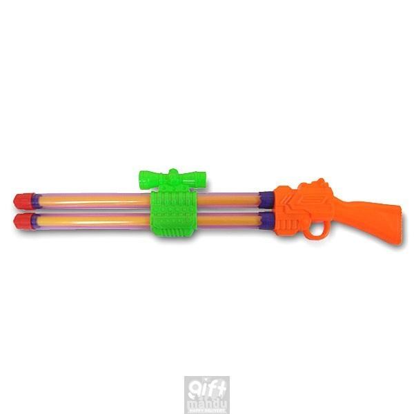 Double Barrel Water Launcher Gun Pichkari -23.4 Inch